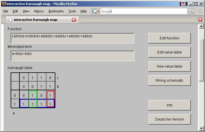 Minimizing Boolean Functions